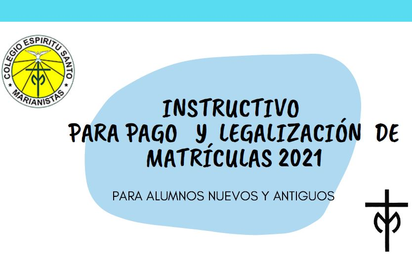 instructivo matriculas 2021